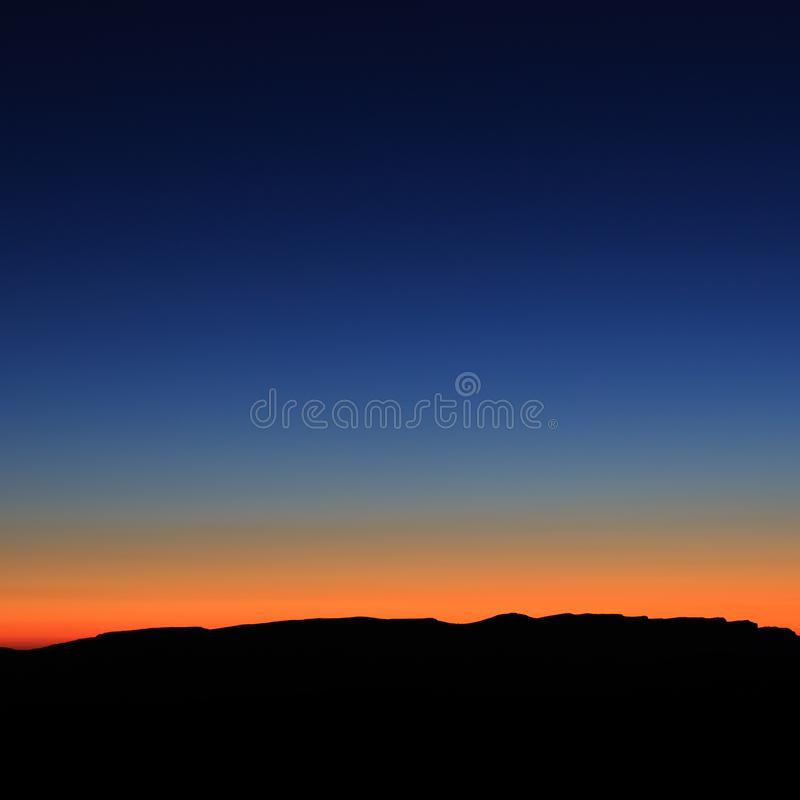 Early morning. Dawn over the mountains stock image