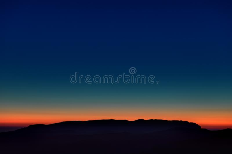 Early morning. Dawn over the mountains of the North Caucasus stock image