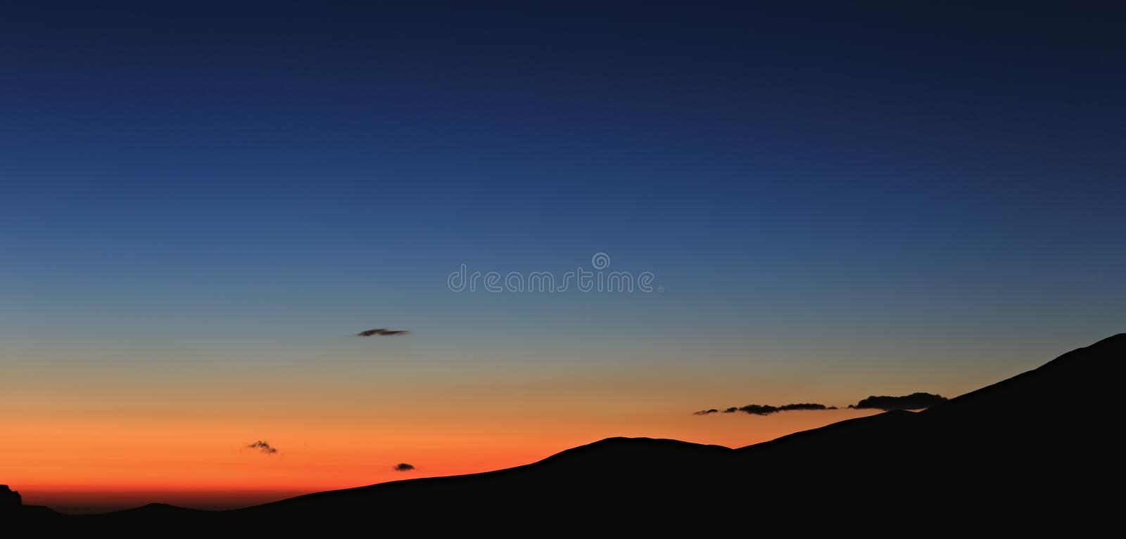 Early morning. Dawn over the mountains of the North Caucasus royalty free stock photography