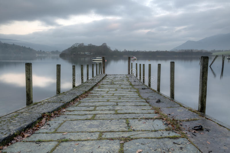 Early Morning Derwentwater. Early monring derwentwater sunrise in the English lake district stock image