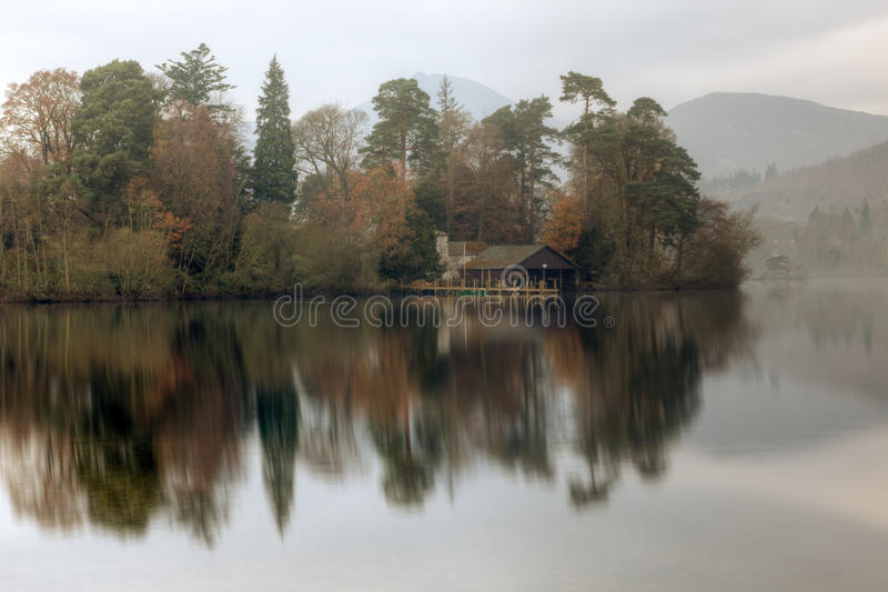 Early Morning Derwentwater. Early monring derwentwater sunrise in the English lake district royalty free stock photo
