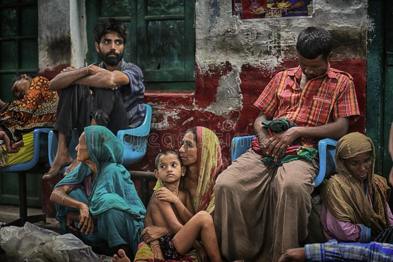 Early in the morning, Dhaka railway station, Bangladesh. Eid al-fitr is one of the most important festivals for muslims. In Bangladesh, people aross the country royalty free stock photography