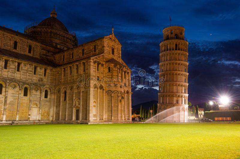 Calm before the Invasion around the Leaning Tower. stock images