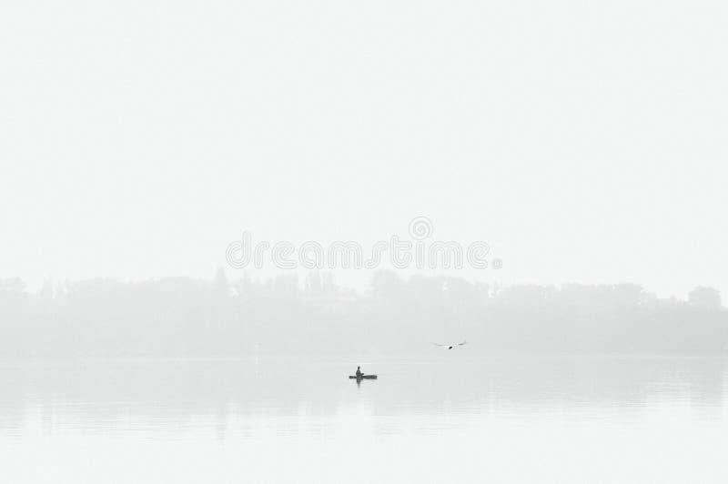 Early morning fisherman stock image
