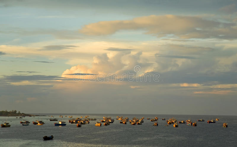 Download Early Morning Fishing stock photo. Image of asia, early - 19357496