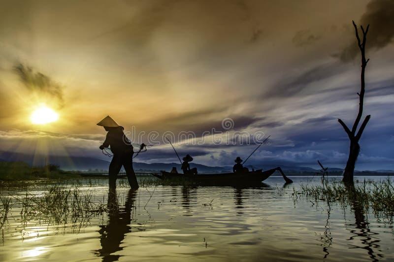 Early morning fishing boat royalty free stock image