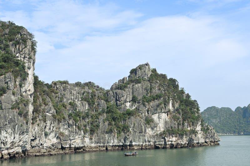 Early Morning Fishing in Halong Bay stock photos