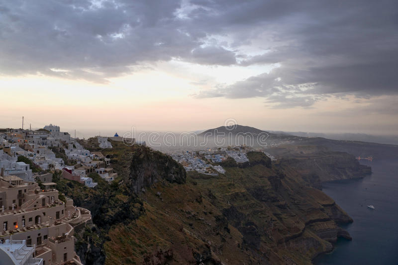 Download Early Morning Fog Above Santorini And Sunrise Stock Image - Image: 23950171