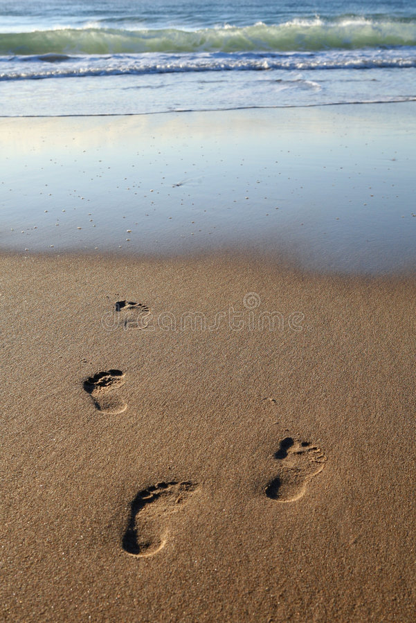 Early Morning Footprints stock photos