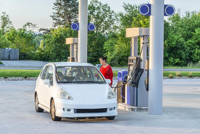 Early Morning Gasoline Purchase stock images