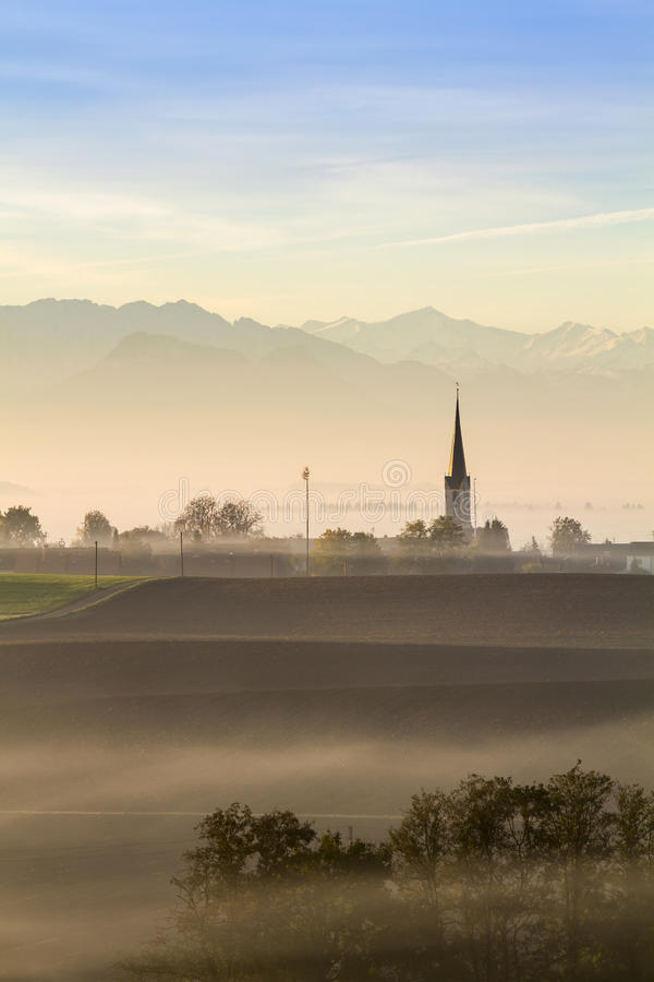 Free Early Morning In The Bavarian Countryside, Germany Stock Photos - 28027173