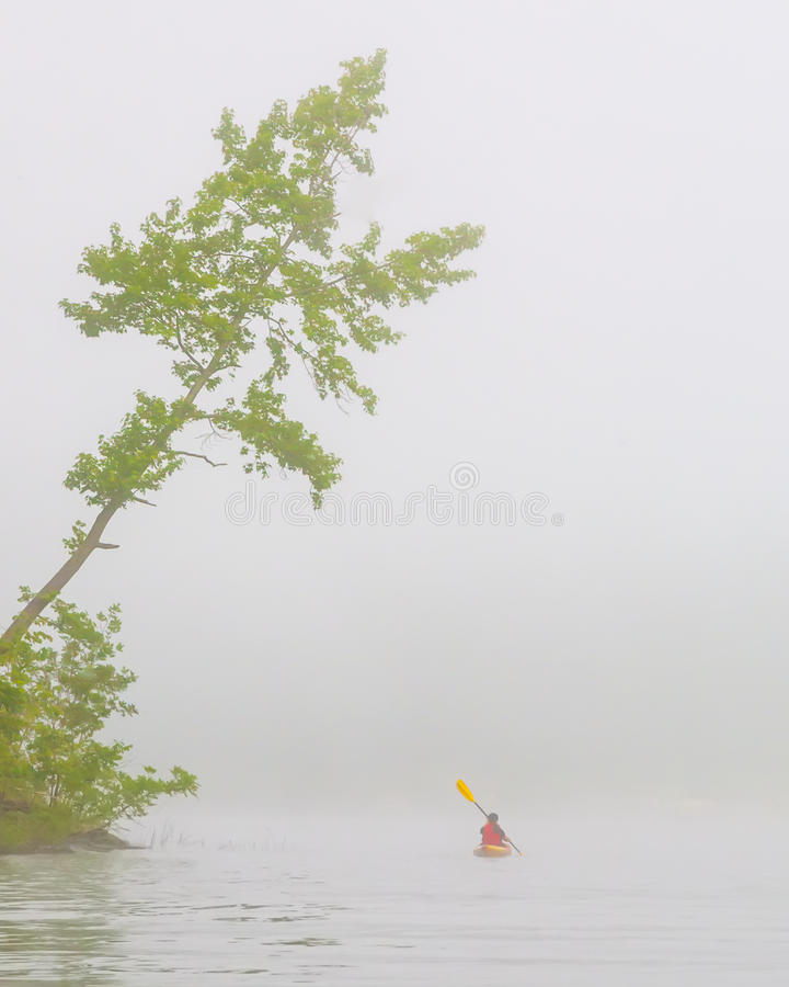 Early Morning Kayaker Royalty Free Stock Photography
