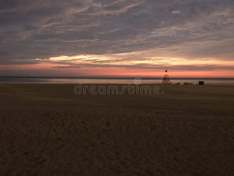 Early Morning Lake Michigan in Chicago royalty free stock photos