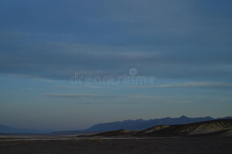 Early morning landscape Death Valley salt flats borax royalty free stock images