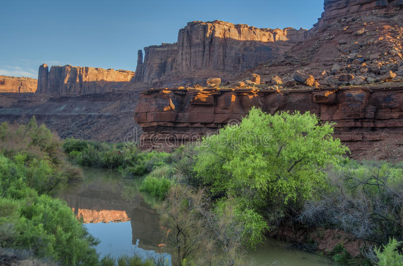 Early morning light in canyons, American Southwest stock images