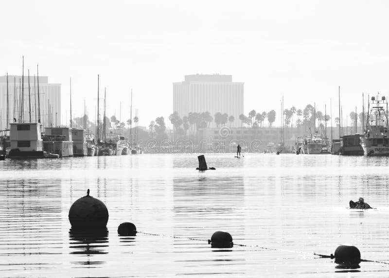Early Morning in Marina Del Ray stock image