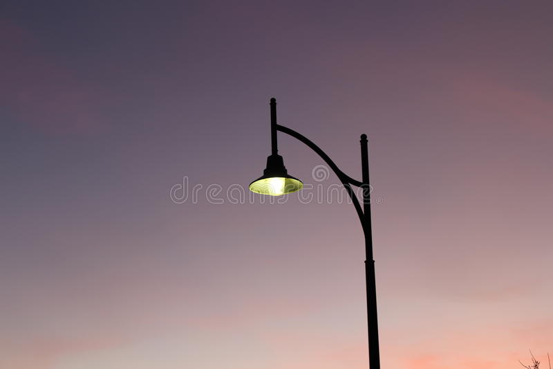 Early Morning Melbourne light post stock photography