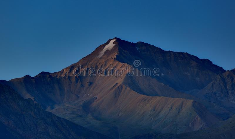 Early morning in the mountain area. Dawn over the mountains stock photography