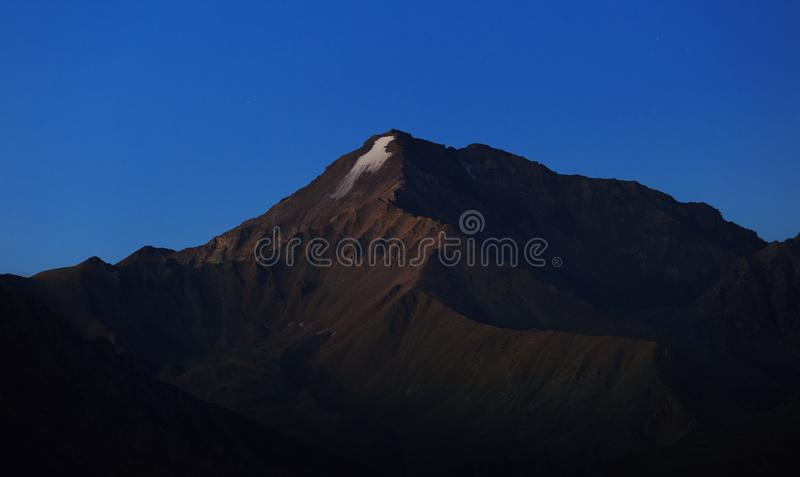 Early morning in the mountain area. Dawn over the mountains stock photos