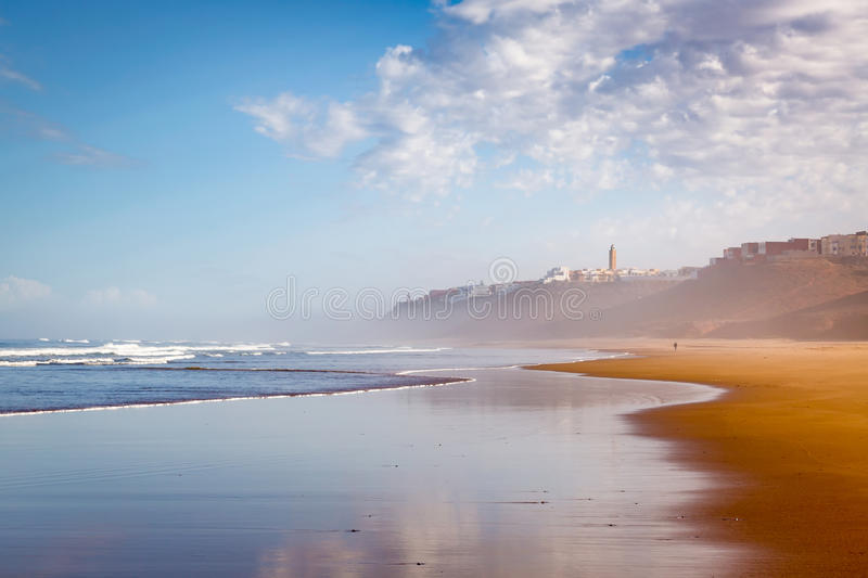 Download Early In The Morning After Rain On Beach Of Sidi Ifni Stock Photo - Image: 83715685