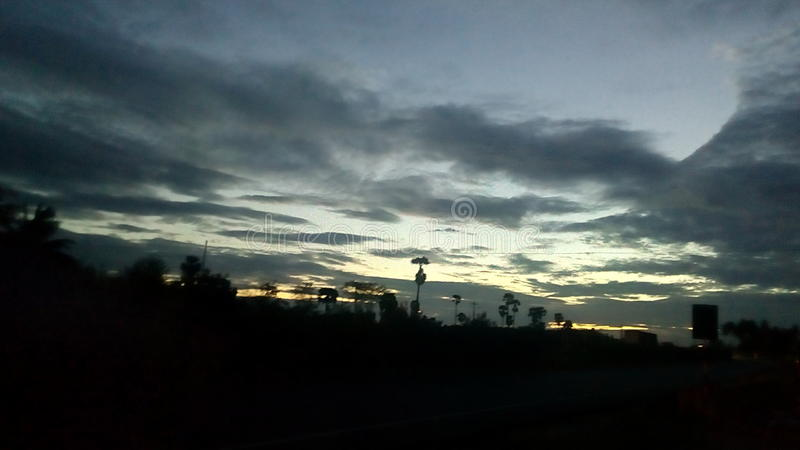 Early morning road view stock images