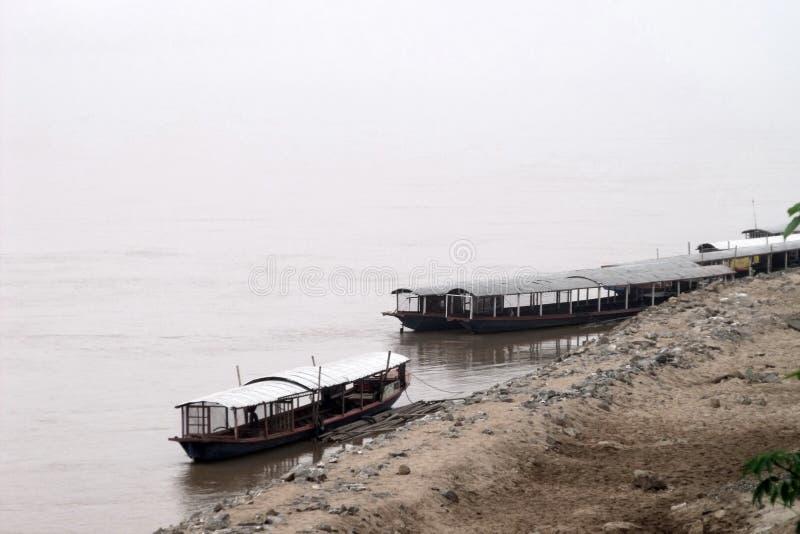 The early morning scence. The early morning scence on the banks of Mae Khong River at Sana Kham Town.Vientien Province.,Loas royalty free stock photo