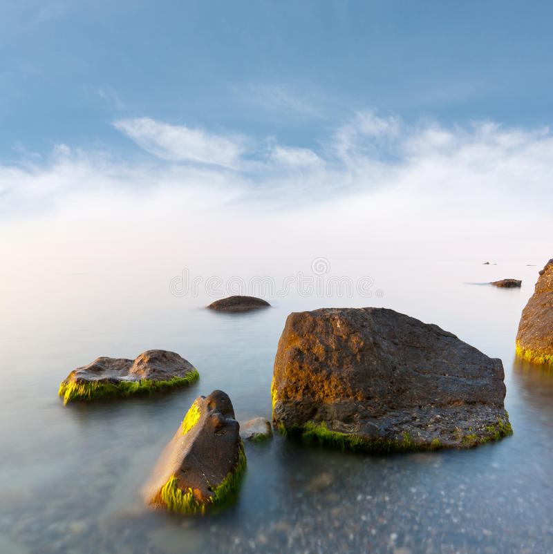 Download Early morning on sea stock image. Image of group, scene - 24625967