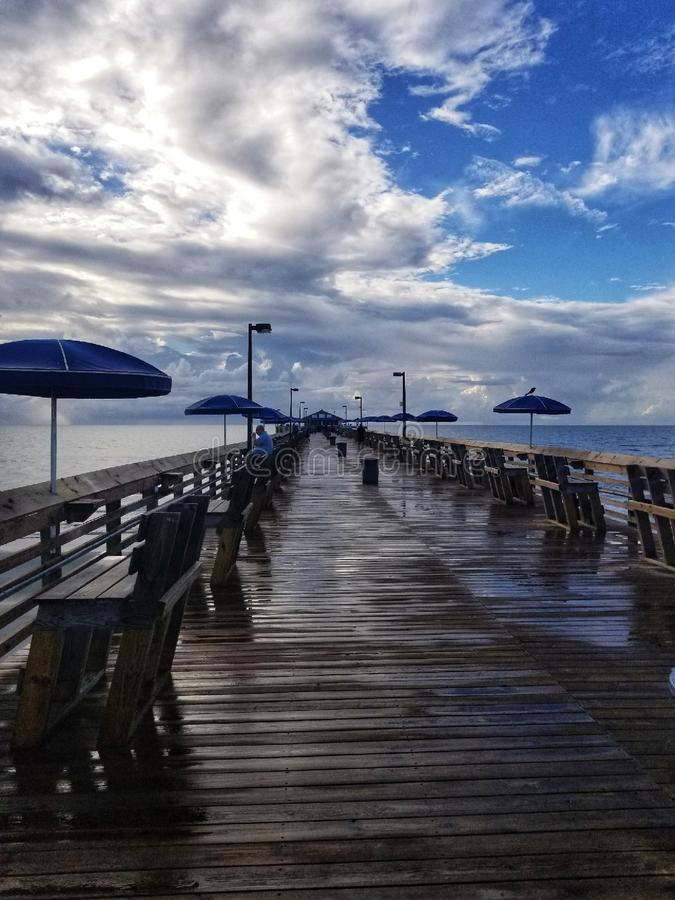 The Pier after the Rain royalty free stock photography