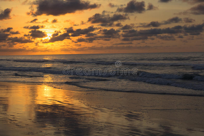 Early Morning Sunrise Across The Ocean royalty free stock images