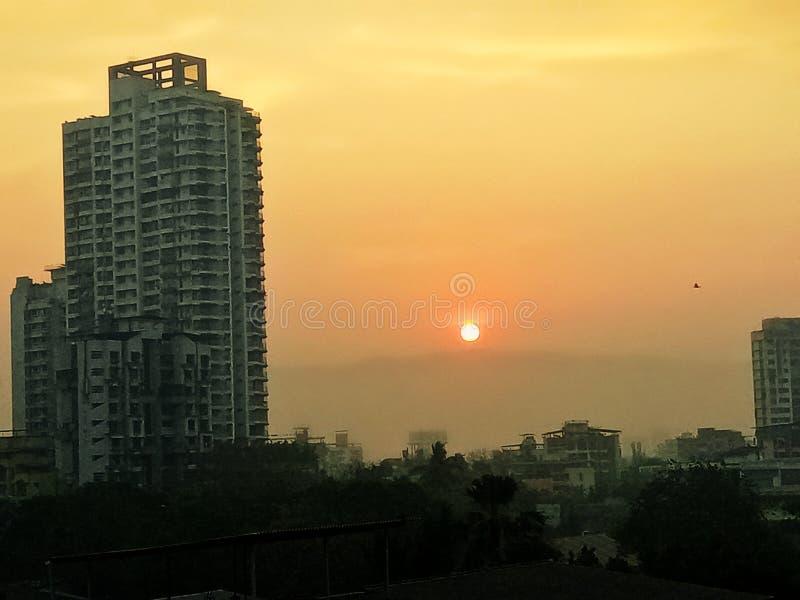 Early morning sunrise at Thane India royalty free stock image