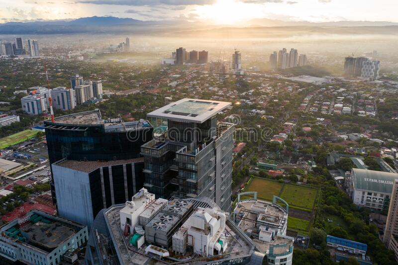 EARLY MORNING VIEW METRO MANILA, PHILIPPINES royalty free stock photos