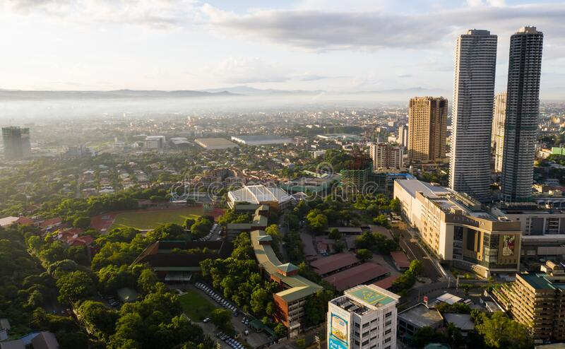 EARLY MORNING VIEW METRO MANILA, PHILIPPINES stock image