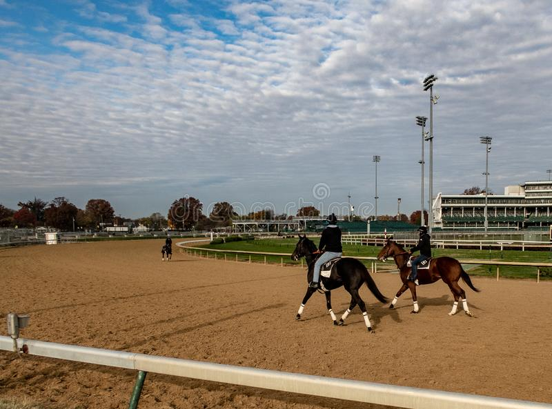 View of Churchill Downs. A early morning view of the track at Churchill Downs in Louisville, Kentucky royalty free stock images