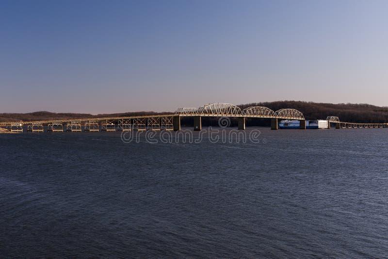 Eggner`s Ferry Bridge Collapse - Kentucky Lake, Kentucky royalty free stock photo