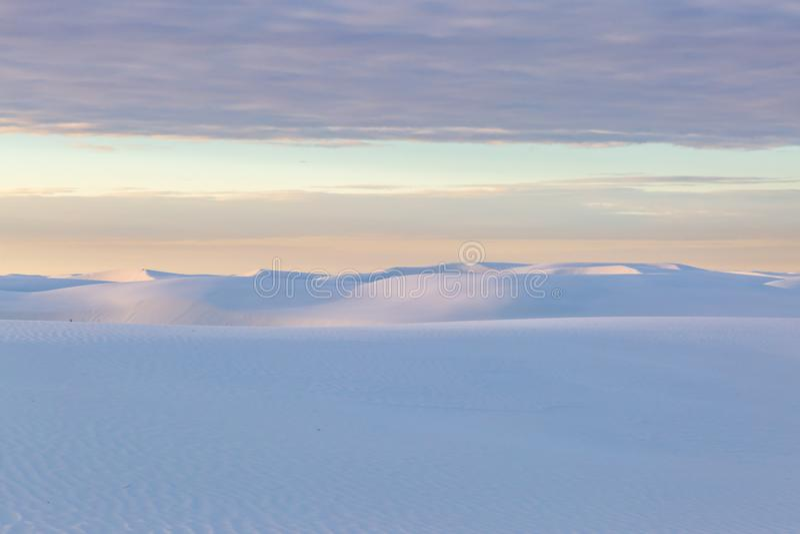 Sunrise at White Sands National Monument stock photos