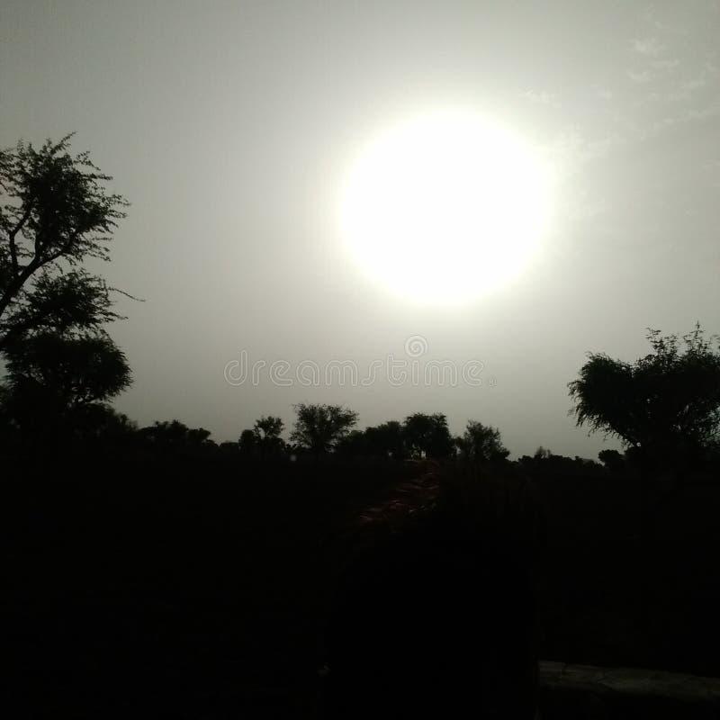 Early rising sun. Rising sun Nature, natural, beauty, lightness, pure stock photo