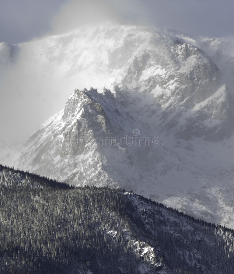 Download Early Storm stock image. Image of snow, mountain, forest - 1402961