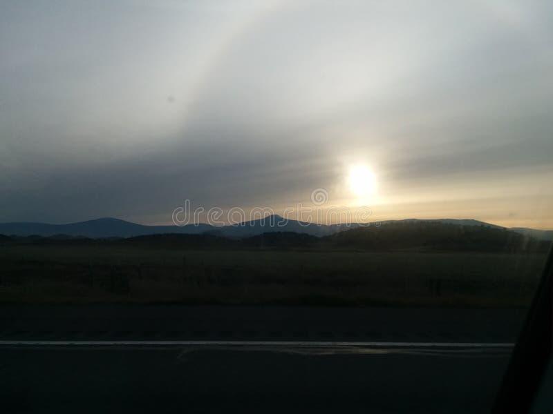 Sacramento sunrise stock image