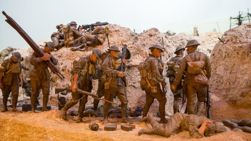Early world war diorama royalty free stock images