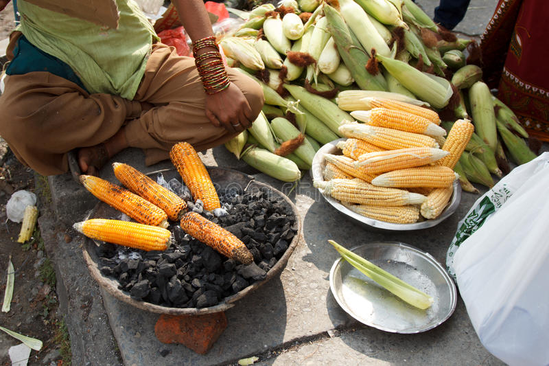 Earn of corn being roasted
