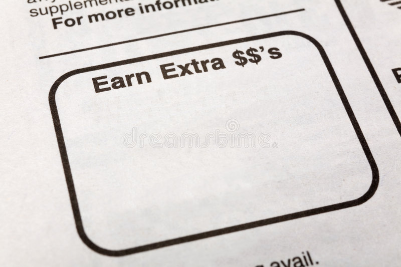 Download Earn extra dollars stock image. Image of backgrounds, hire - 4622925
