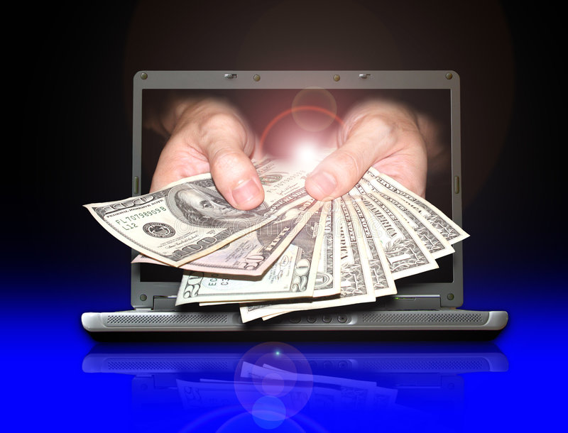 Earn money from internet. You can make payment or earning money from internet