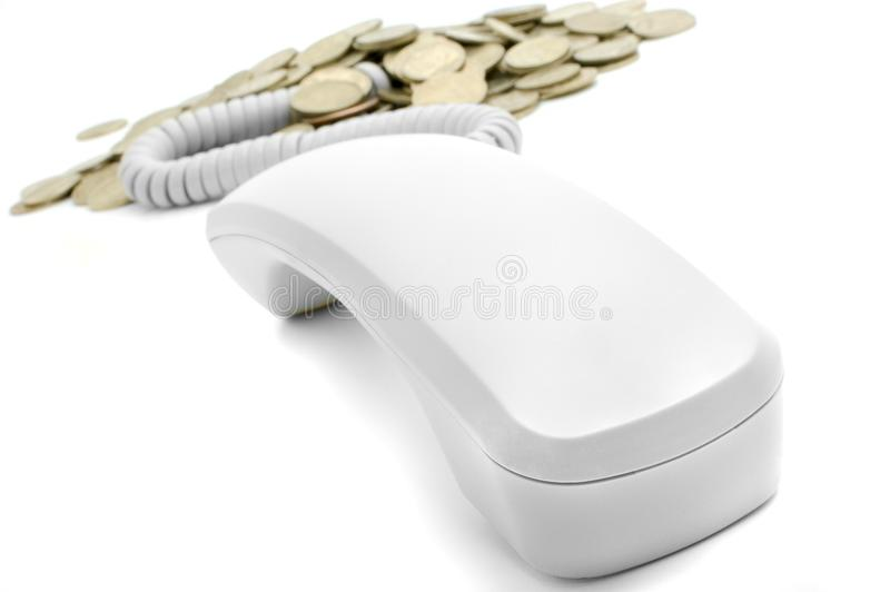 Earn by phone royalty free stock photo