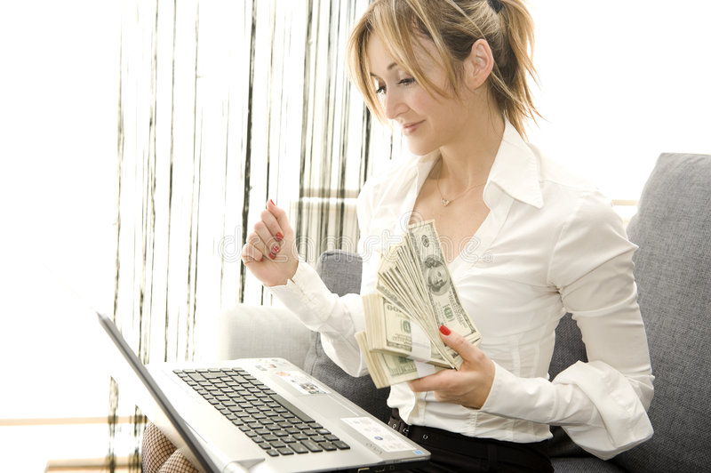 Download Earning with comfort stock image. Image of glamour, home - 8899761