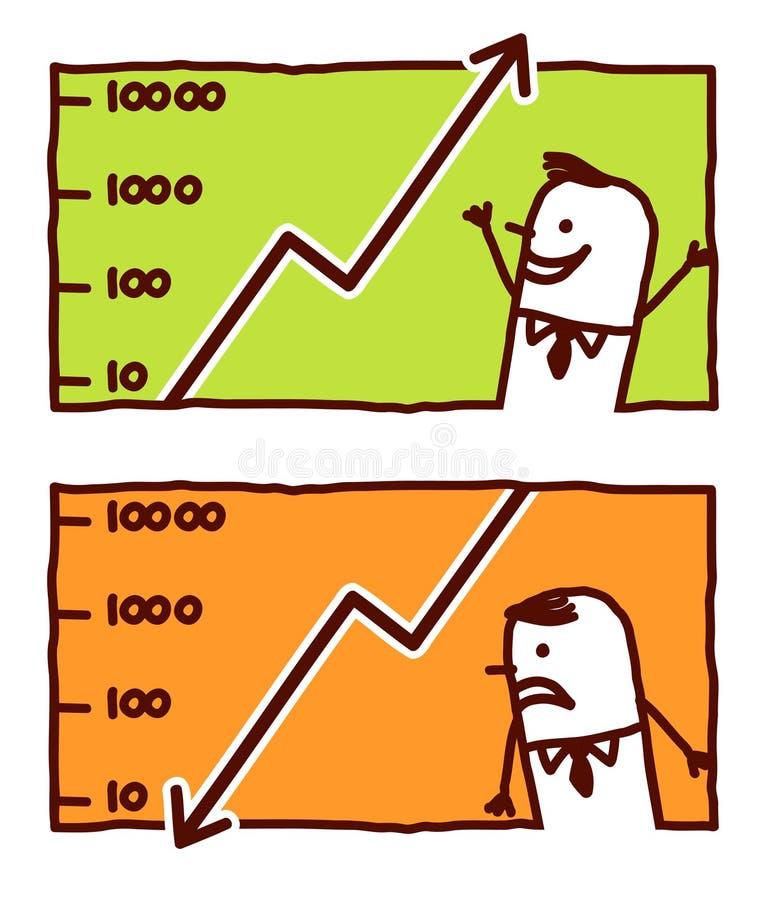 Download Earning & losing money stock vector. Image of crash, businessman - 14881323