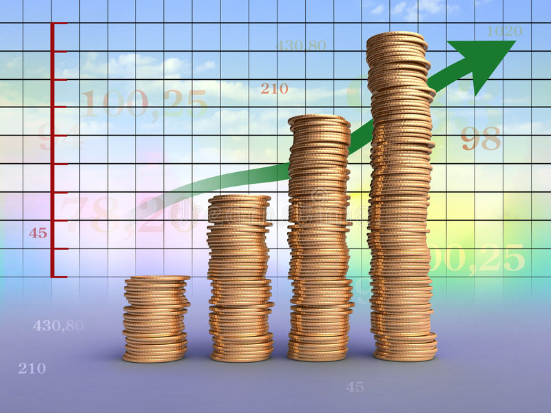 Earnings graph stock illustration