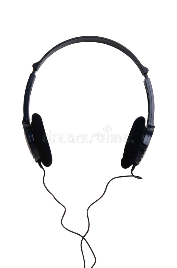 Earphone-2. This is a White Background earphone royalty free stock photography