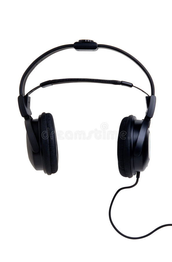 Earphone. This is a White Background earphone stock images