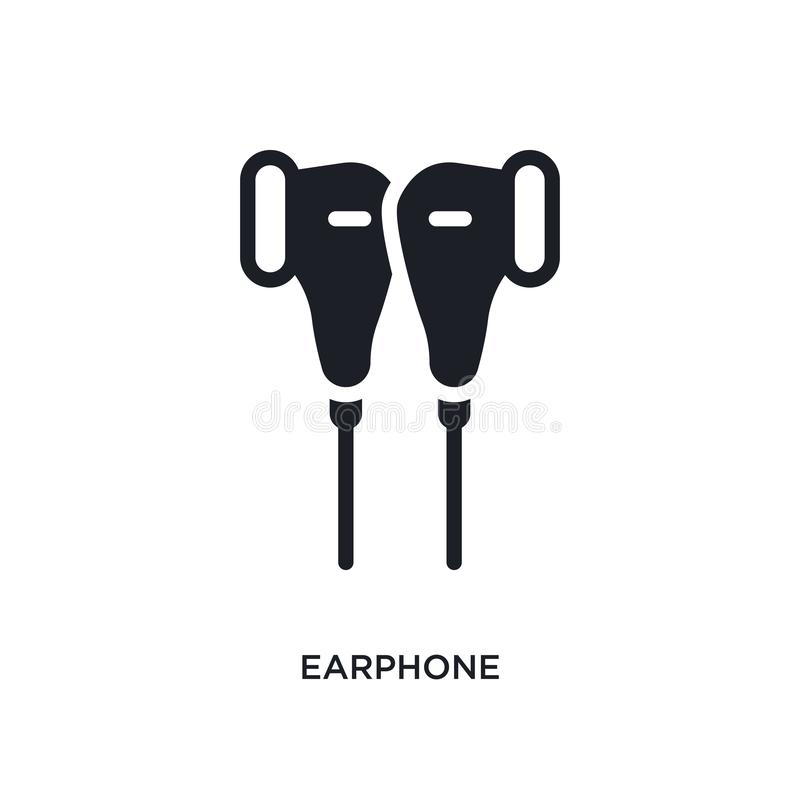 Earphone isolated icon. simple element illustration from electronic devices concept icons. earphone editable logo sign symbol. Design on white background. can royalty free illustration