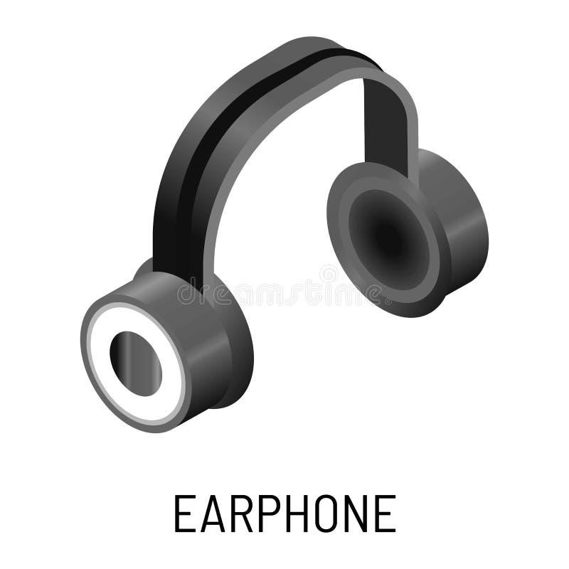 Earphone music listening device isolated object headphones. Headphones or earphone music listening device isolated object vector electronic device speakers sound stock illustration